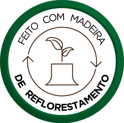 Feito com Madeira de Reflorestamento
